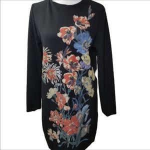 Zara black dress with gorgeous embroidery!